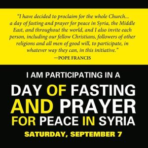 fast and pray for Syria