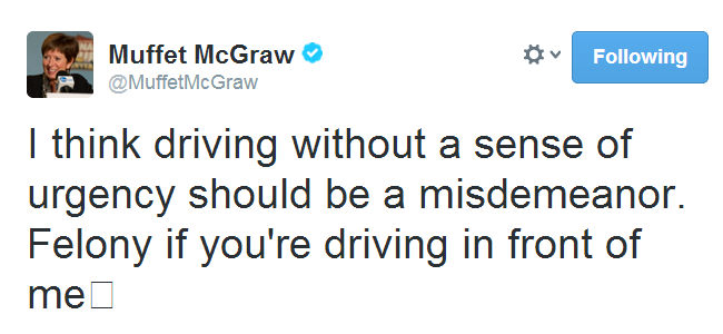 muffet mcgraw tweet