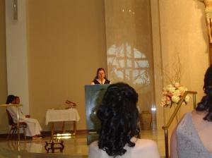 reading at Pams wedding