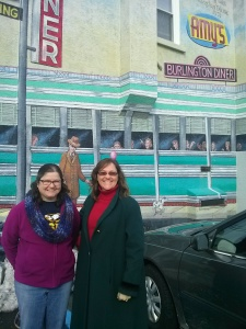 At Amys Diner with CatholicMomVA Jan 25 2015