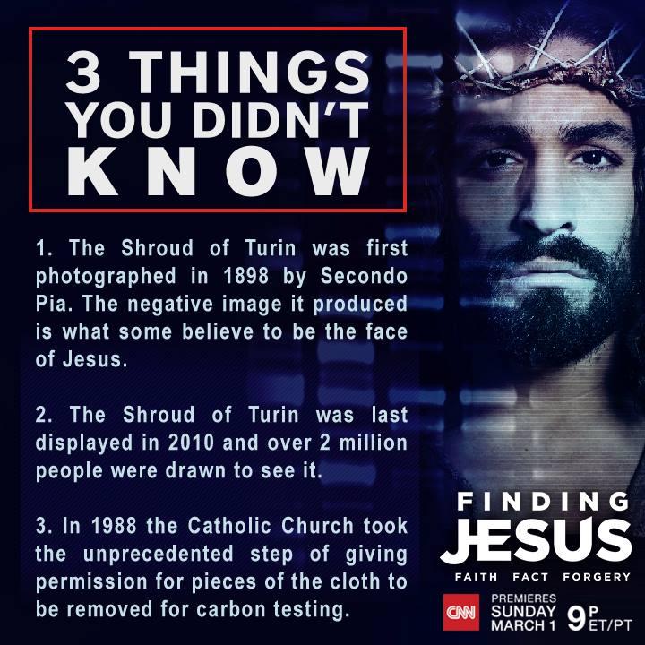 Finding Jesus shroud of turin info