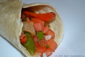 Grilled Veggie Burrito:  recipe coming soon to Cook and Count!