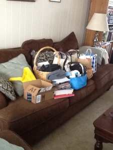 too much stuff on couch