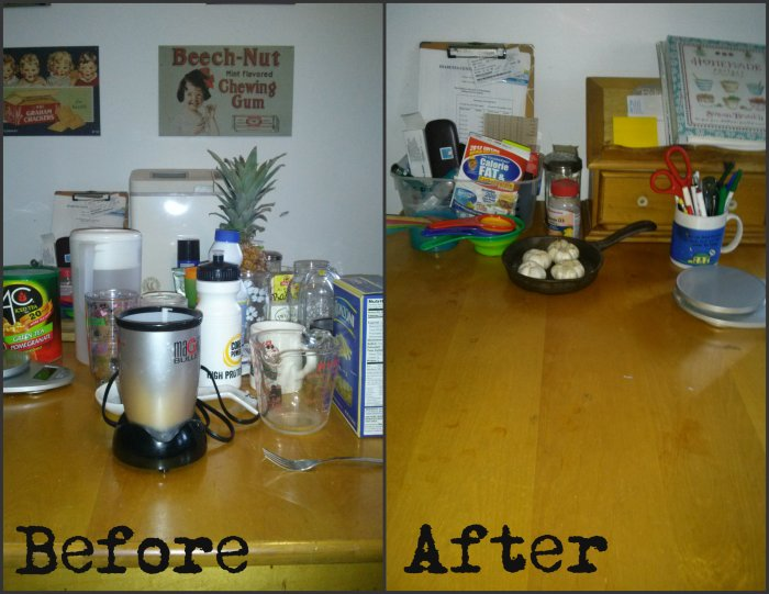 kitchen table before and after