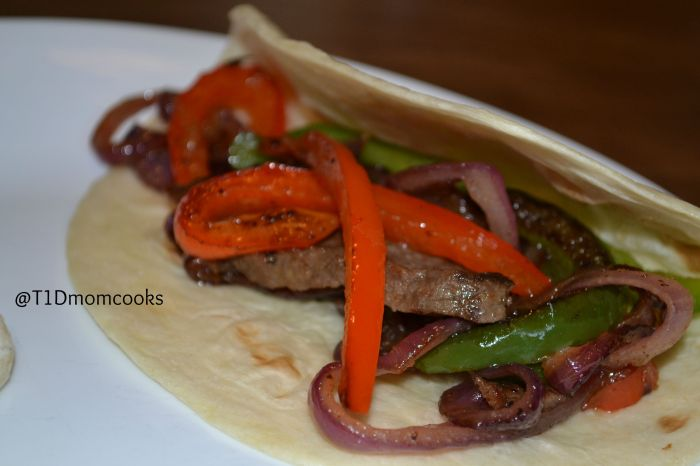steak fajitas from leftovers (2)c for cook and count