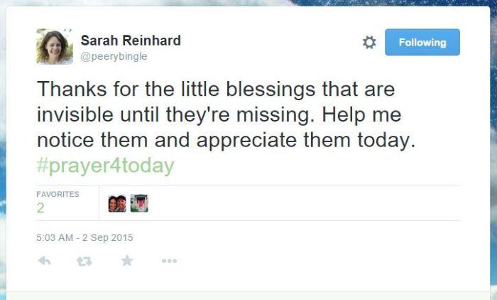 Sarah tweet