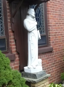 St. Francis statue at St. Anthony Shrine, Paterson, NJ. Copyright 2015 Barb Szyszkiewicz. All rights reserved.