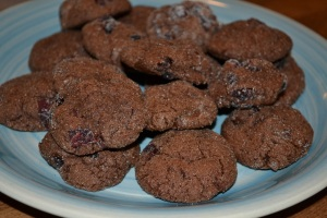 double chocolate cranberry cookies (3)