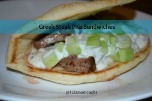 Greek steak pitas C T