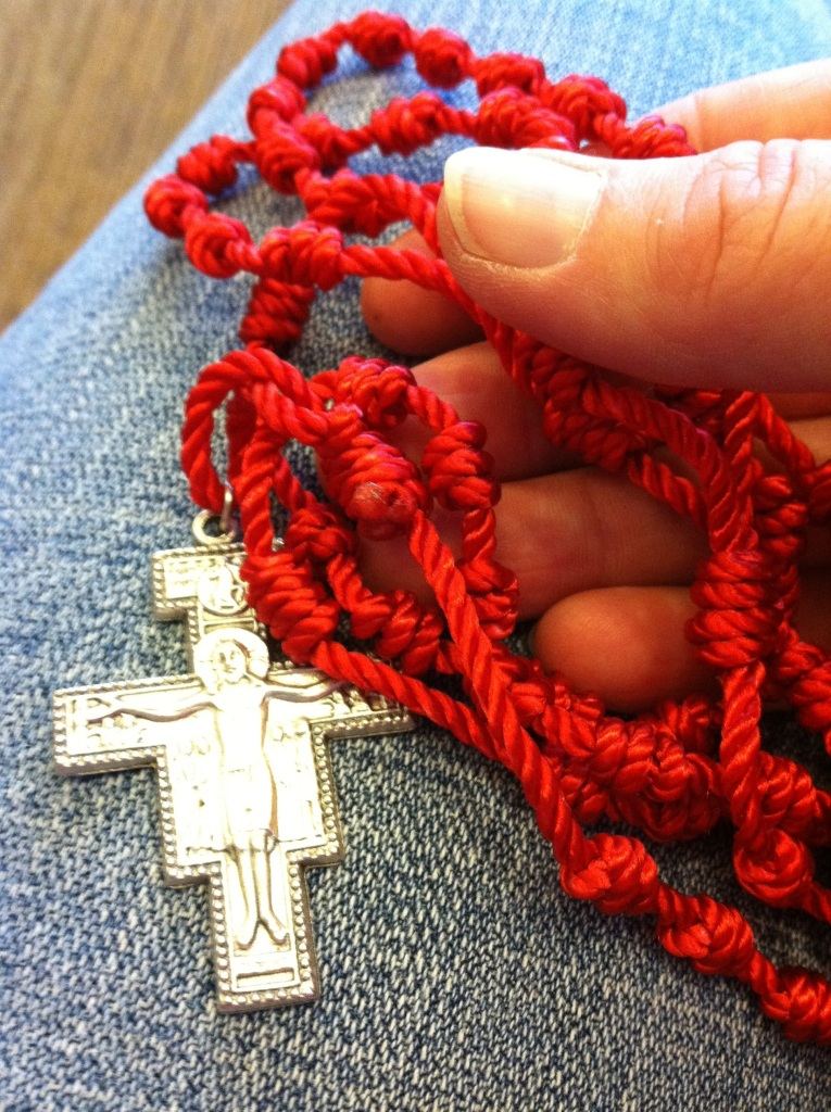 "My favorite ""pocket Rosary."" Durable. Washable. And with a Franciscan touch!"