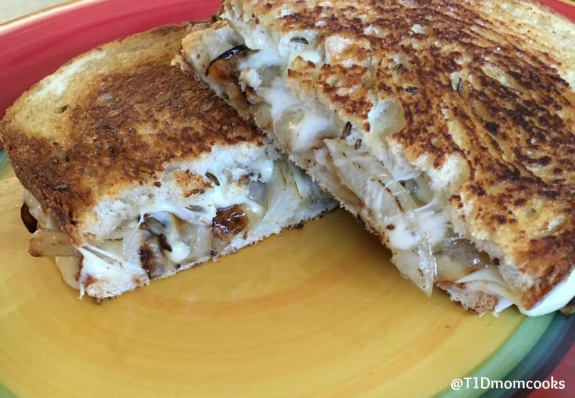 grilled provolone onion mustard rye