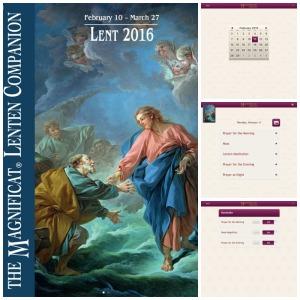 Magnificat Lenten Companion app collage