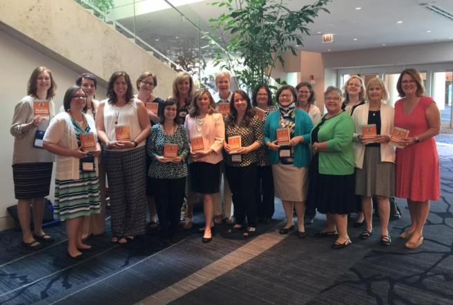 Authors of the CatholicMom's Prayer Companion at the Catholic Writers Guild, July 2016. @franciscanmom
