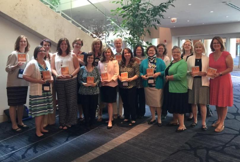Authors of the CatholicMom's Prayer Companion at the Catholic Writers Guild, July 2016. @franciscanmom