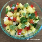 Pineapple salsa goes great with shrimp tacos, chicken and more!