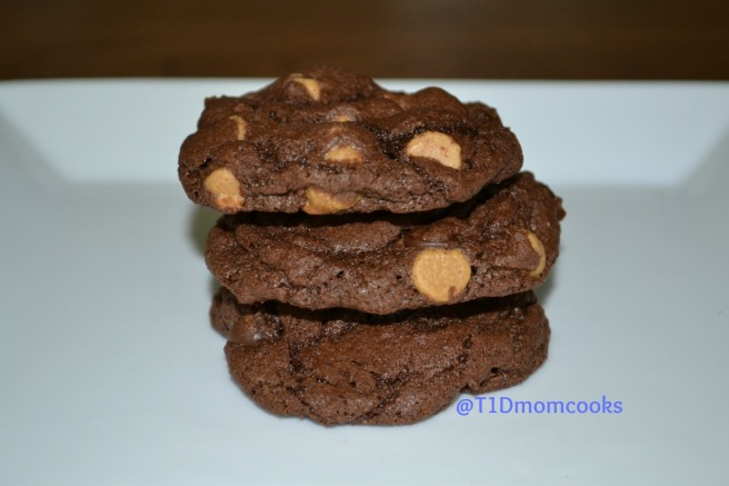 Double chocolate-peanut butter cookies by Barb Szyszkiewicz for cookandcount.wordpress.com