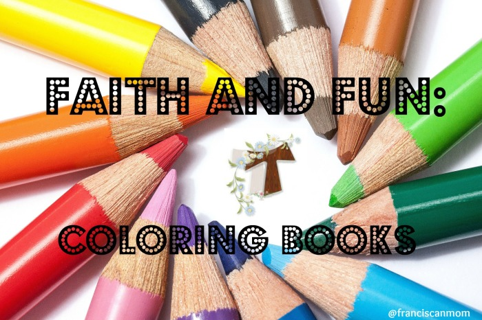 Coloring book reviews at Franciscanmom.com